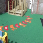 Rubber Play Area Mulch in Bracon Ash 9