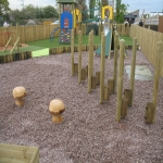Rubber Play Area Mulch in Bracon Ash 2