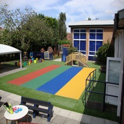 Rubber Playground Grass Mats in Appledore 3