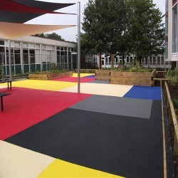 Rubberised Playground Surfacing in Ash 10
