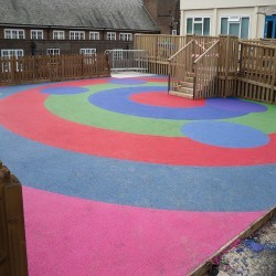 Rubberised Playground Surfacing in Blaguegate 6