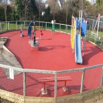Rubberised Playground Surfacing in Ash 7