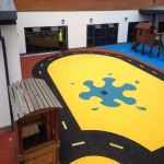 Rubberised Playground Surfacing in Blaguegate 2