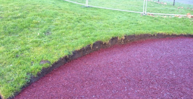 Rubber Playground Mulch in Bracon Ash
