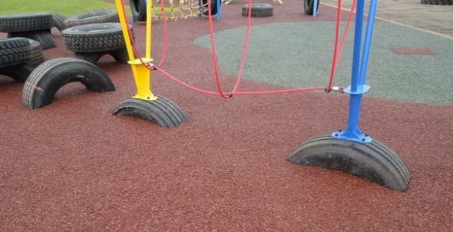 Playground Mulch Surfaces in Bramshaw